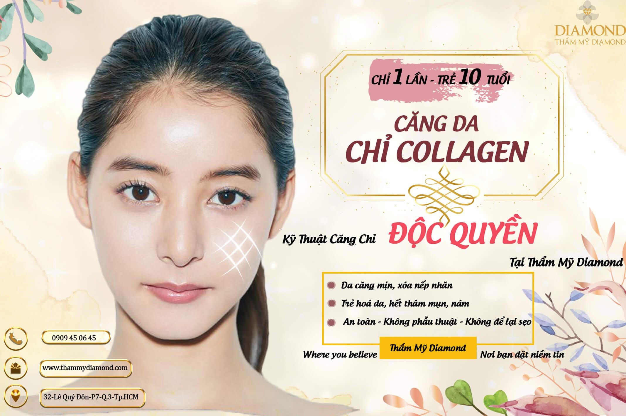 Căng chỉ collagen